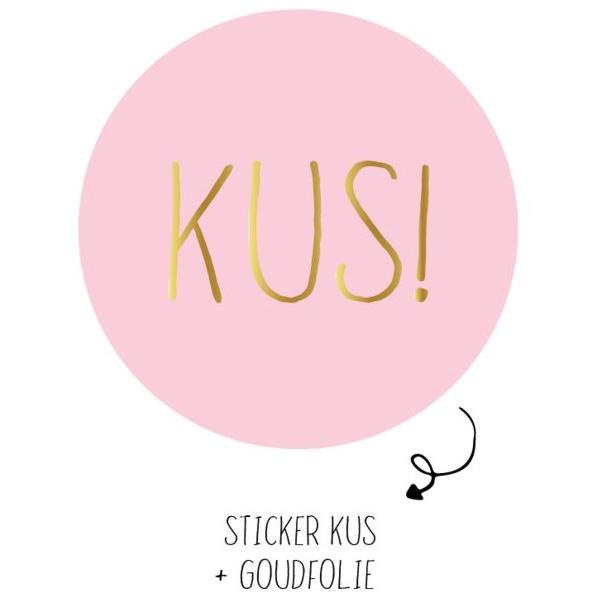 Sticker 'Kus!'