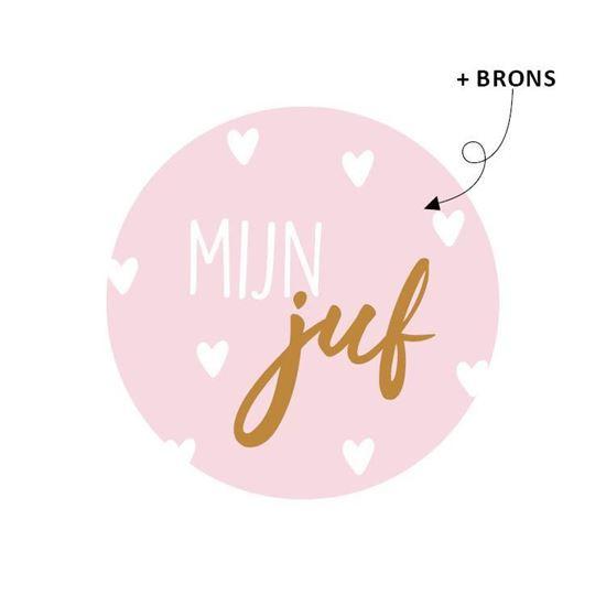 Sticker 'MIJN juf'
