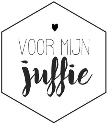 Sticker 'voor mijn juffie'