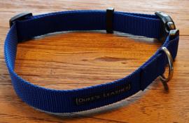 Halsband 25mm blauw maat L