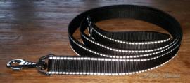Looplijn 25mm zwart reflectie Lengte 2.00 mtr