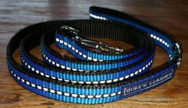 Looplijn 15mm blauw reflectie Lengte 1.50