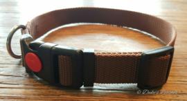 Halsband 20mm bruin maat M