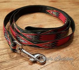 Looplijn 20mm zwart/rood Lengte 1.50 mtr