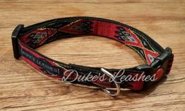Halsband 20mm rood/zwart maat M