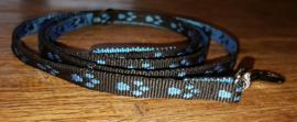 Looplijn 10mm zwart/blauwe voetjes Lengte 1.20 mtr