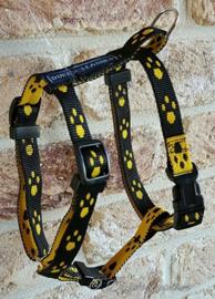 15mm tuig zwart/gele voetjes maat S