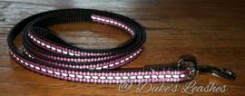 Looplijn 10mm roze reflectie lengte 1.20