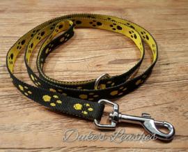 Loopijn 15mm zwart /gele voetjes Lengte 1.20 mtr