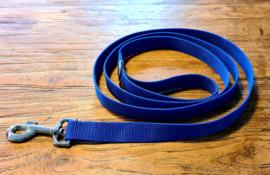 Looplijn 25mm blauw lengte 2.00 mtr met RVS beslag