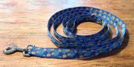 Looplijn 25mm blauw bubbel lengte 1.80 mtr met RVS beslag