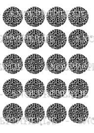 Black and white cupcake print
