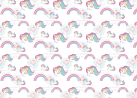 Unicorn en rainbow