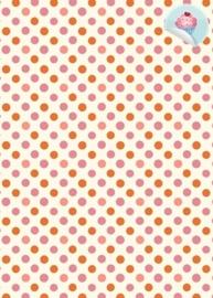 Stip 8 Oranje/Roze