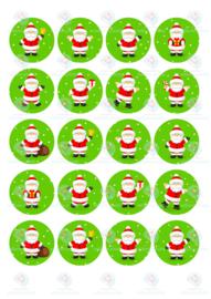 Kerstmannen cupcake print