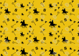 Sinterklaas print geel