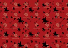 Sinterklaas print rood