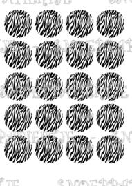 Zebra 1 cupcake print