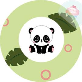 Panda rond groen
