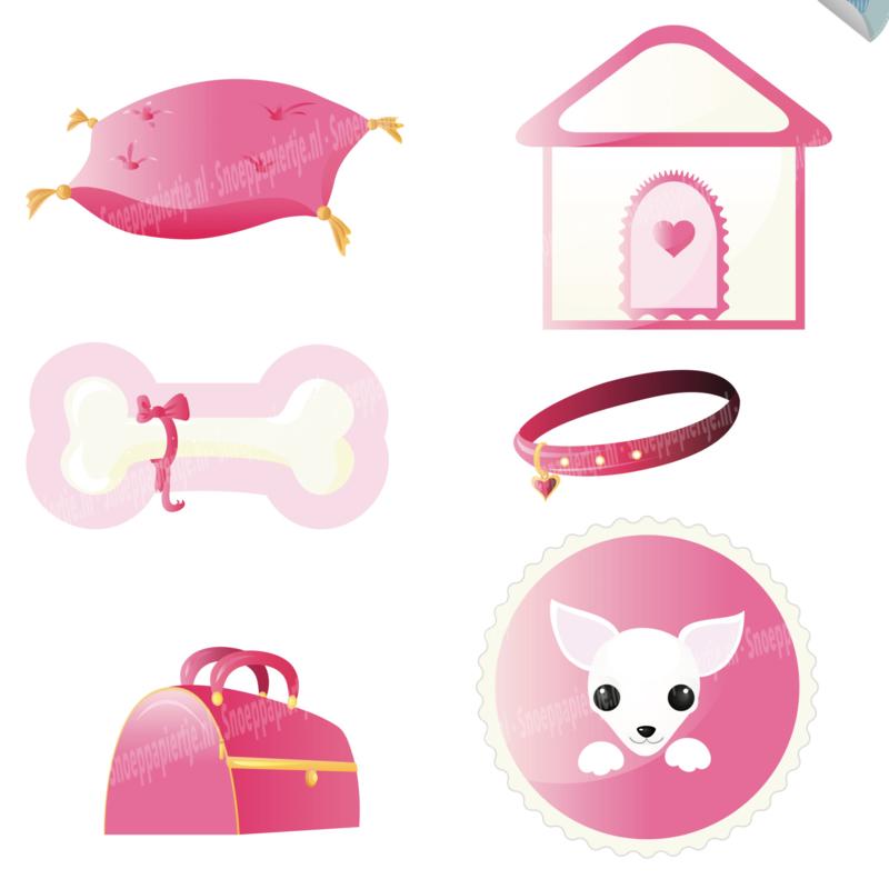 Hondje pink