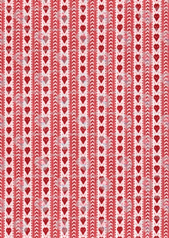 Schortenbont hart rood