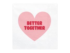 Servetten Valentijn/Love