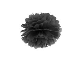 Pompom zwart 25 cm