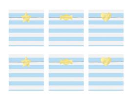 Traktatie zakjes, blauw 6 stuks