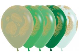 Tropical leaf ballonnen, 5 stuks