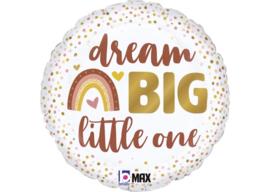 Folieballon boho regenboog dream big little one 45 cm