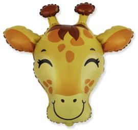 Folieballon Giraf hoofd 68cm