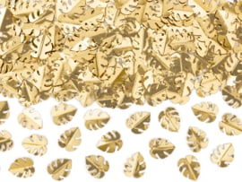 Metallic monstera confetti goud