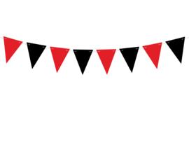 Piraten vlaggenlijn zwart/rood 1,3 m