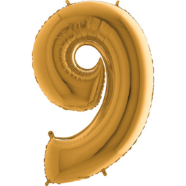 XXL Cijferballon 9 Goud