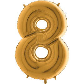 XXL Cijfer 8 Goud