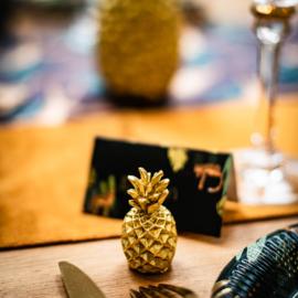 Ananas plaats markers 2 stuks