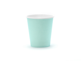 Papieren Bekers Turquoise (6 st)