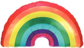 Folieballon regenboog 91cm