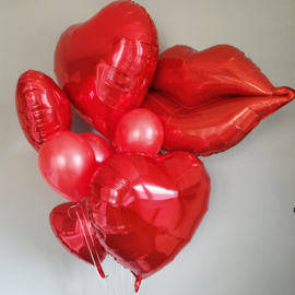 Ballontros met folieballonnen