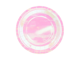 Iridescent borden, 18cm 6 st