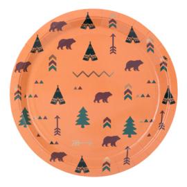 Indian Forest Bordjes, 8 st, 23 cm