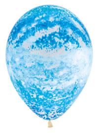Graffiti blue ballon (5 stuks)