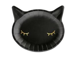 Zwarte kat bordjes (6 st)