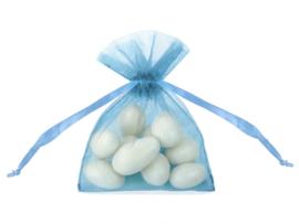 Organza zakjes, sky blue 20 stuks