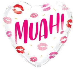 Folieballon MUAH! kisses 45cm