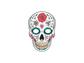 Dia de Los Muertos masker wit