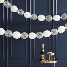Gouden confetti link ballonnen