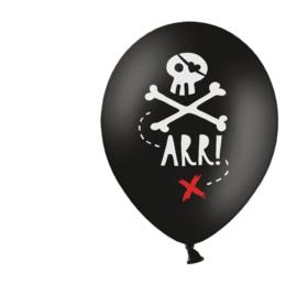 Arr! Piraten ballonnen (5 st)