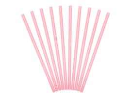 Licht roze papieren rietjes (10 st)