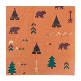 Indian Forest servetten, 16st